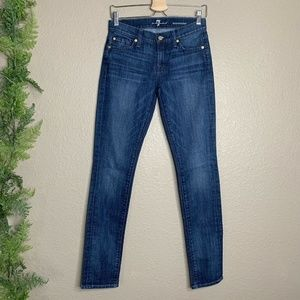 7 for All Mankind Roxanne Skinny Jeans Mid Rise 26
